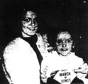 Gail, at right, is pictured with 1964 Kosciusko County March of Dimes Poster Girl, Mary Pat VanOsdol.